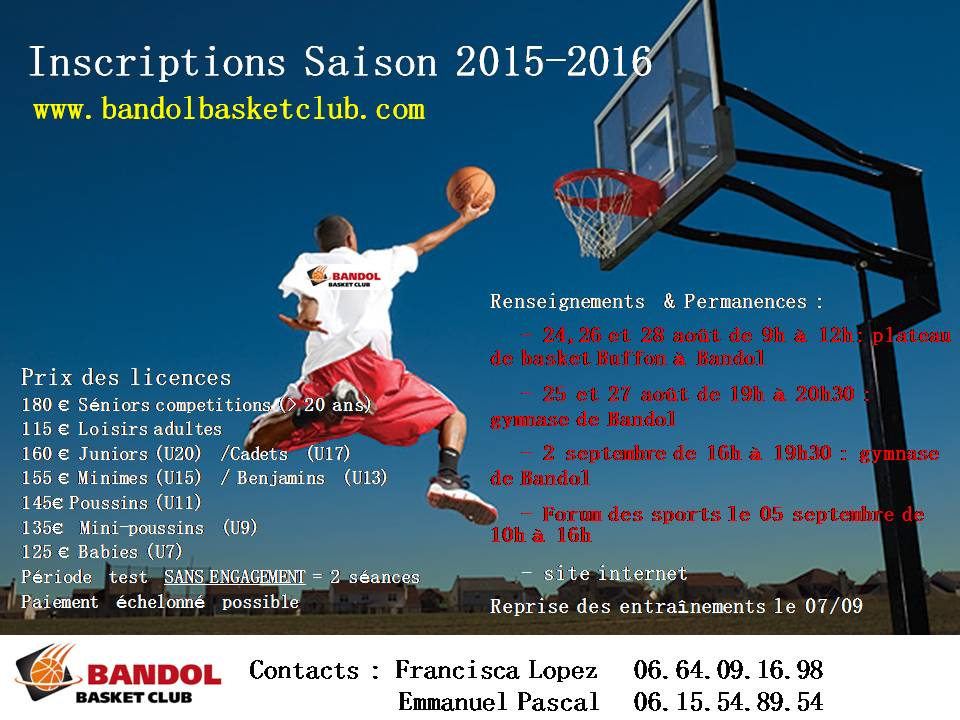 Affiches Inscription 2015-16